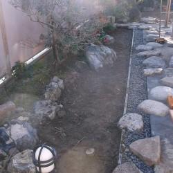 和庭の土舗装