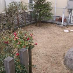 人工芝のミニガーデン