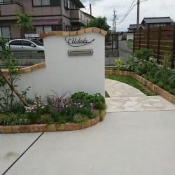 夏花壇の植栽